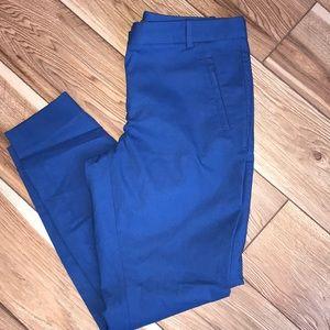 The Limited size 10 royal blue skinny dress slacks